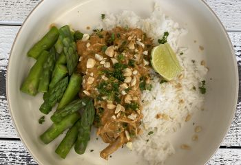 Spicy Coconut Pulled Chicken Thighs
